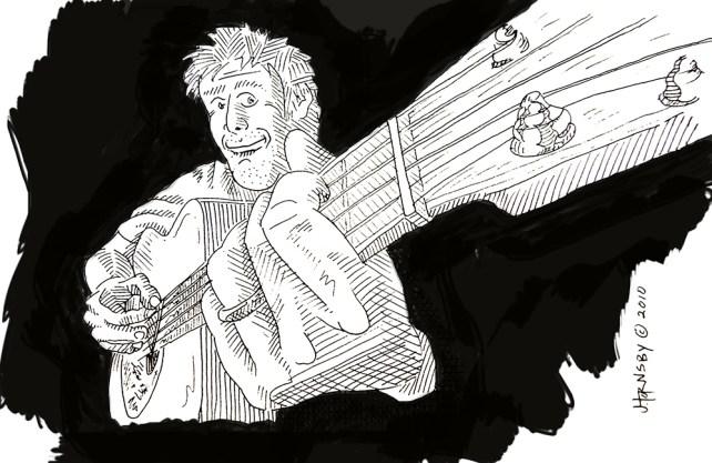 guitar design graphic illustration