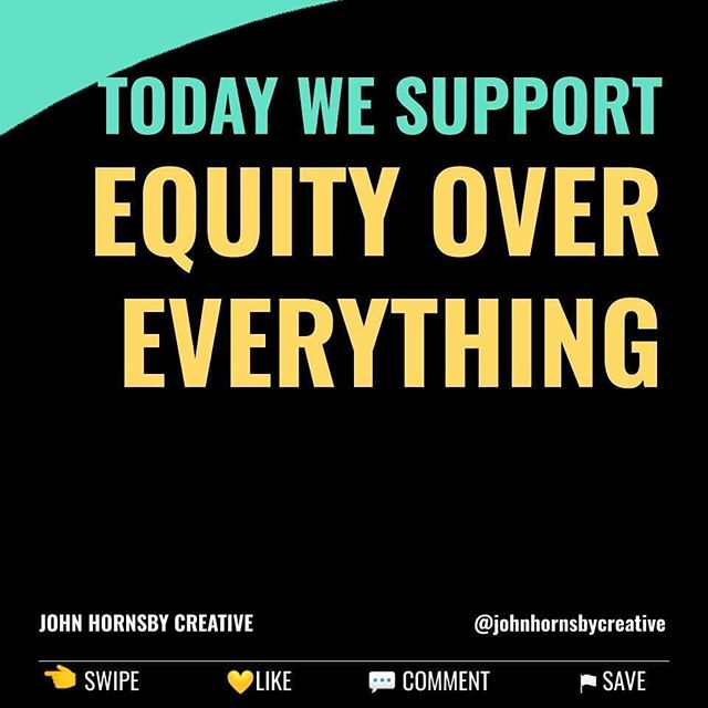 Once a week we'll highlight a specific social justice action and invite you to join us.  This weeks anti racism action item is supporting Equity Over Everything. @equityovereverything  Equity Over Everything's mission is to advance equity by closing the gaps in social equity, entrepreneurship and home ownership within low resource communities across the south.  They offer education and experiences that increase resources and help communities thrive. Each program is sustainable through its social enterprise component.  You can order one of their Tshirts, hoodies, mugs or straight up donate.  Link in bio ?  https://aishaadamsmedia.com/equity-over-everything-racism