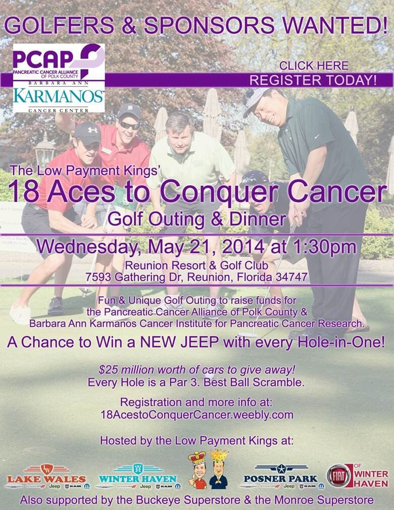 18 Aces to Conquer Cancer