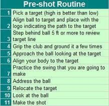 Is Your Pre-Shot Routine, Routine?