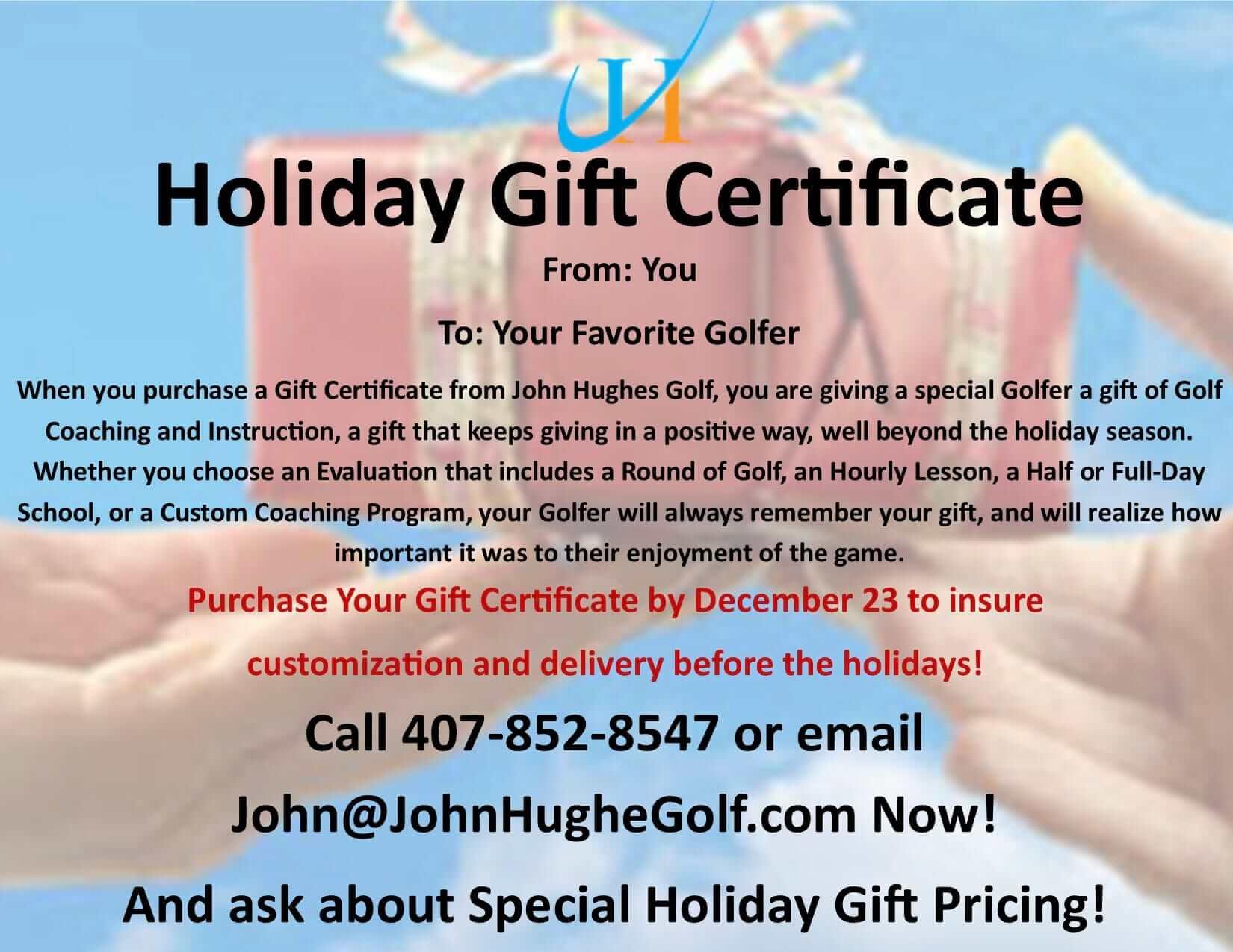 blog john hughes golf john hughes golf christmas gift certificates holiday gifts holiday gift certificates orlando