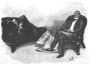 Paget illustration of Holmes and Watson