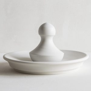 John Julian Porcelain Flat Mortar with Ball Pestle