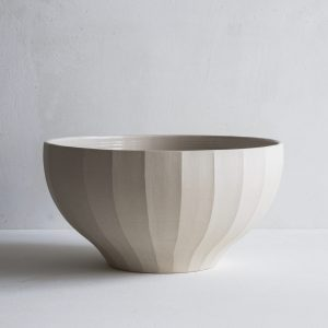 Fluted Bowl Stoneware 25cm