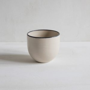 Simple Stoneware Beaker with black rim