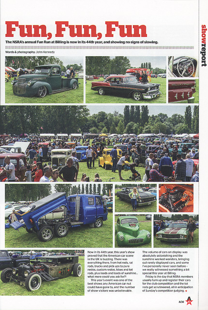 American Car Magazine - Cover Spetember 2016 - Editorial pieces 44th NSRA Fun Run - page 1