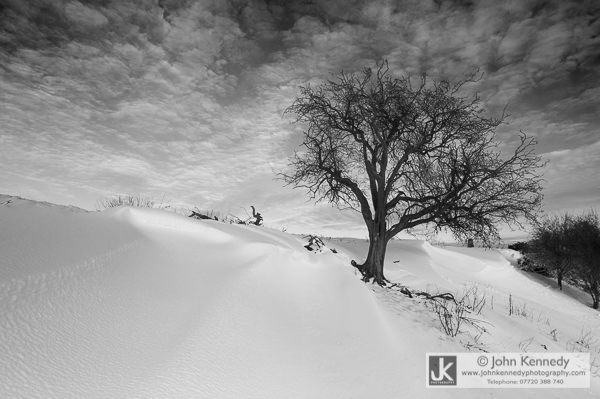 Heavy drifting snow, Leicestershire UK