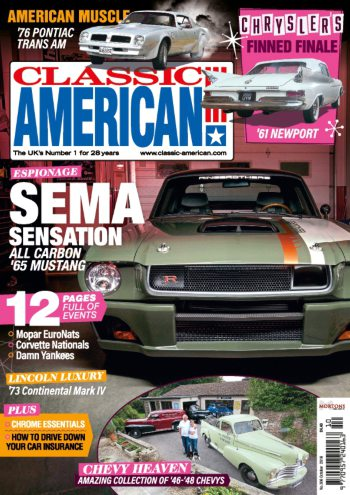 Classic American Magazine - number 306 October 2016 Cover - Editorial piece Mopar Euro Nationals