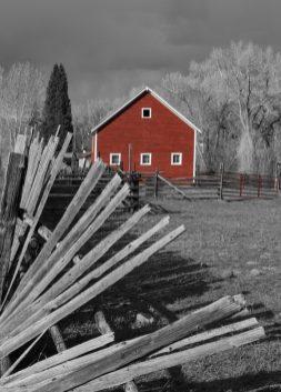 falling fence barn