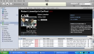 Netbook Downloading Robert Llewellyn's Carpool. Check it out at http://www.llewtube.com or on iTunes