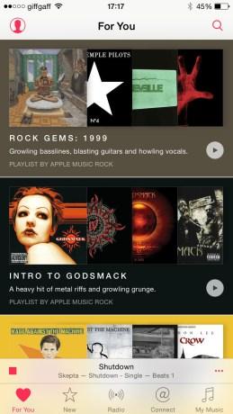 Streaming playlists based on my music tastes. Apple Music