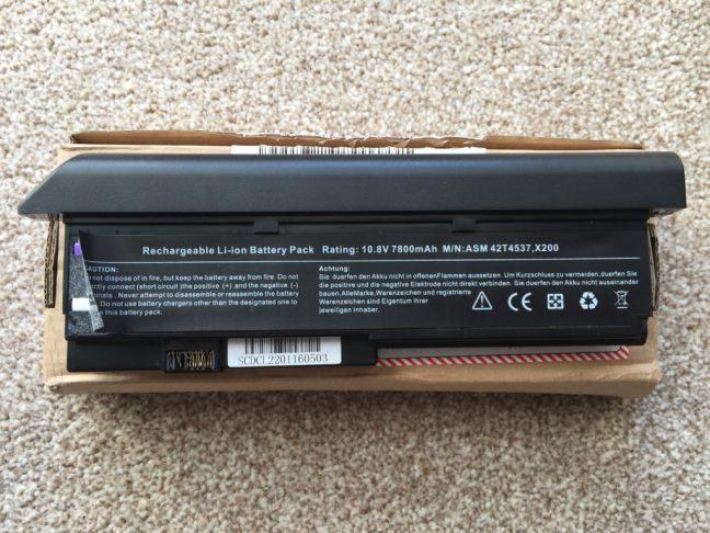 Thinpad X200 7800mah battery