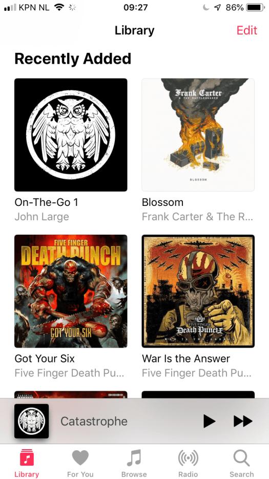 iOS 12 album artwork missing