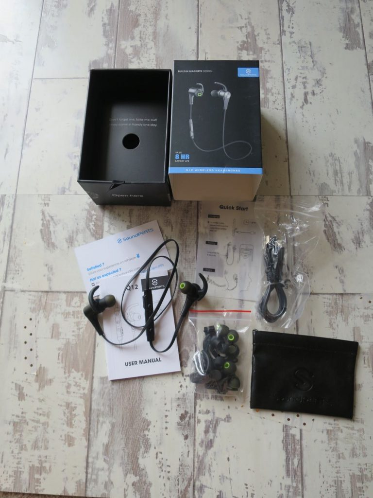 Soundpeats Q12 Headphones Box Contents