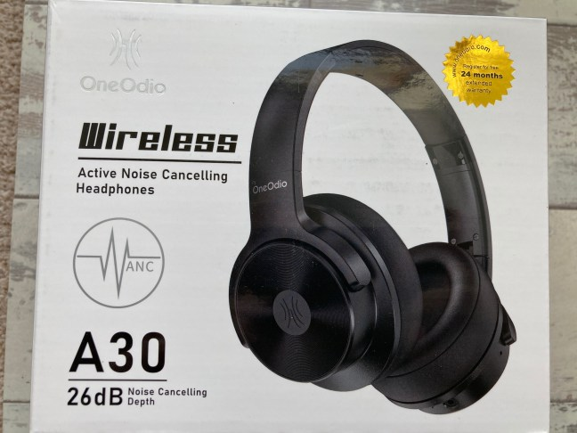 OneOdio A30 Noise Cancelling Headphones Box