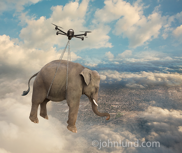 How To Fix Falling Wallpaper Drone Carrying Elephant
