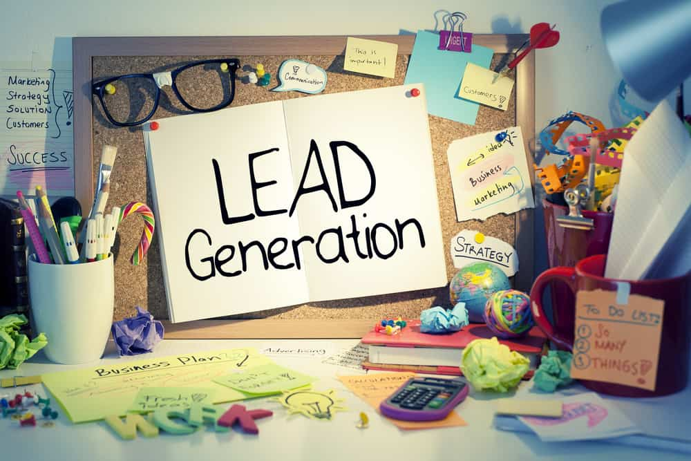 A corkboard with ideas, funnels, and content plans for a simple lead generation strategy for addiction recovery services marketing