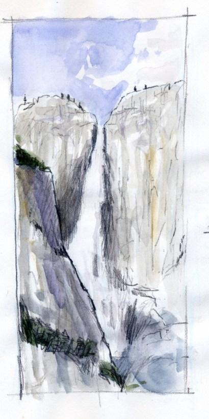 Yosemite Falls Watercolor