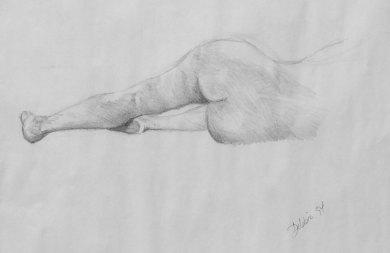 1994. Life drawing - Debbie