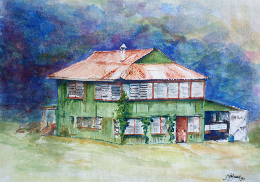 Queenslander watercolour painting