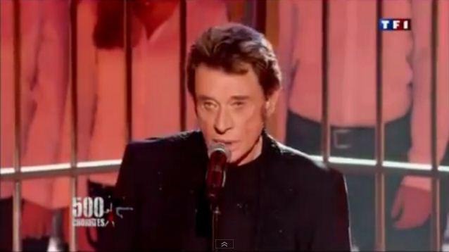 Vidéo Johnny Hallyday Diego 500 Choristes TF1