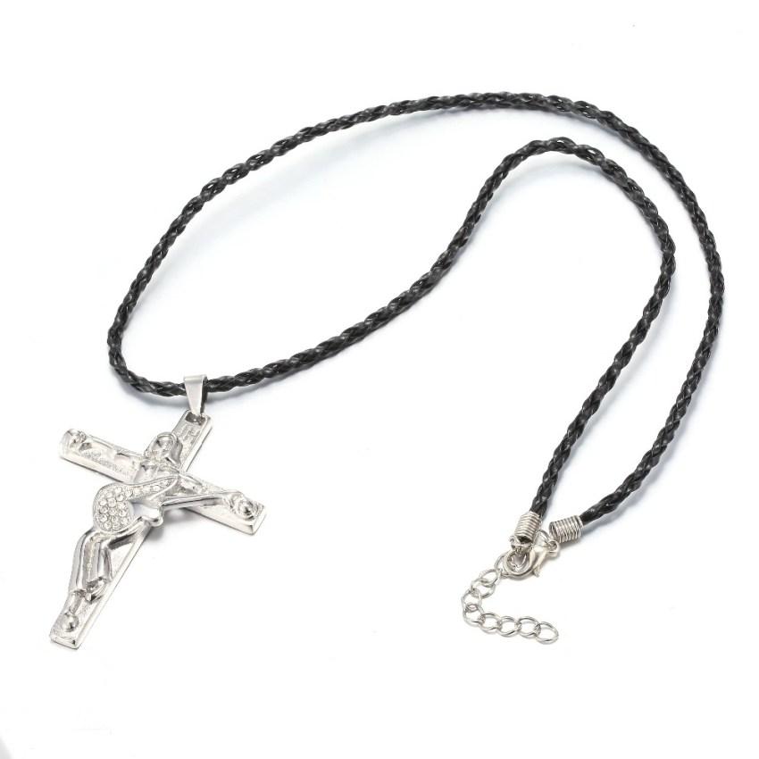 Collier Croix Johnny Hallyday crucifix 2