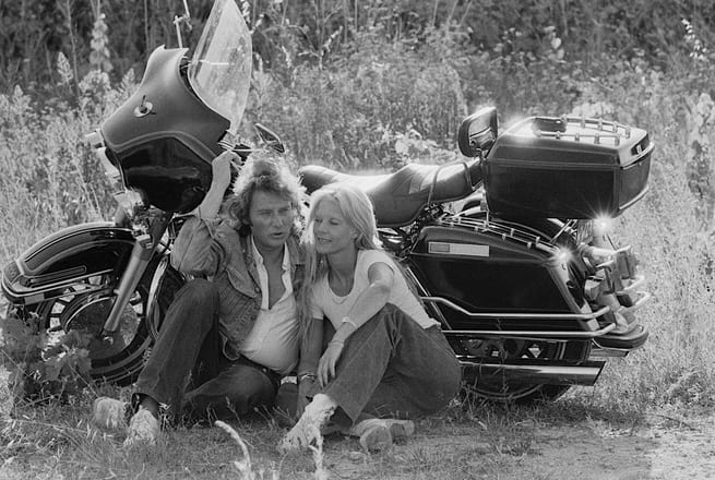 Johnny Hallyday et Sylvie Vartan en vacances Beziers aout 1978