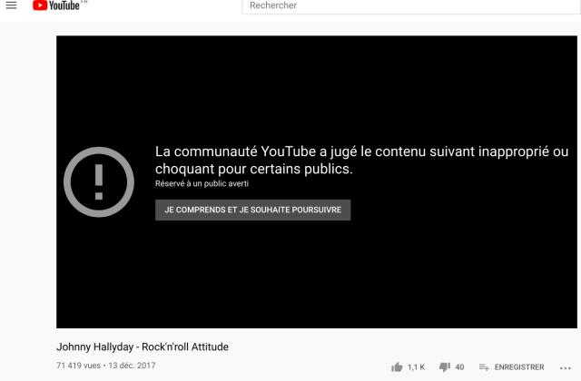 Clip censuré de Johnny Hallyday