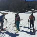 Backcountry skiers at Mad River Glen