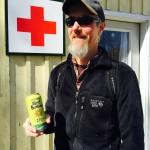 Sean Lawson, Mad River's naturalist guide and beer-maker extraordinaire, with Sip of Sunshine!!!
