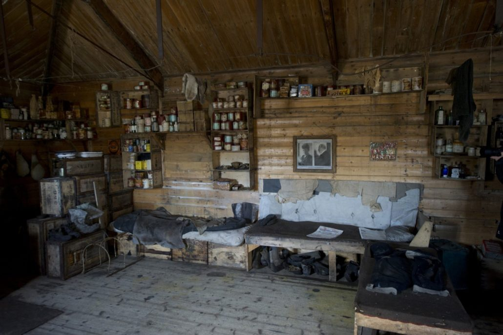 Inside Shackleton's hut in Cape Royds (Credit: Fred van Olphen and Oceanwide Expeditions)