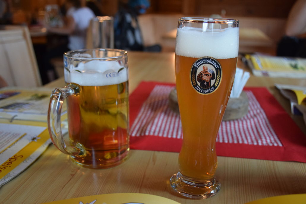 Great beer choices in Tyrol