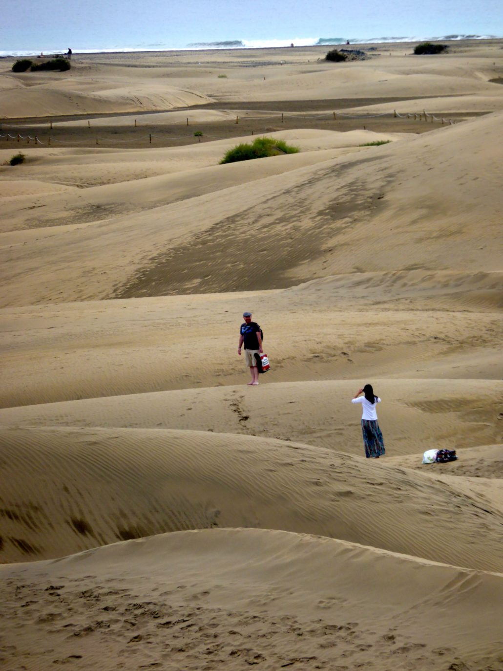 The sand was imported from the Sahara to create Maspalomas beach