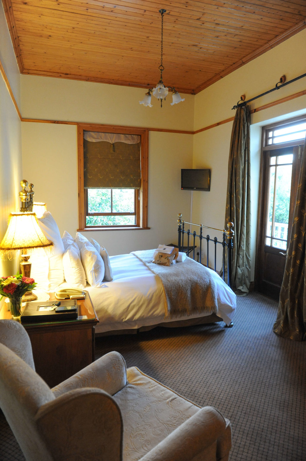 My room at the Evergreen Manor and Spa in Stellenbosch