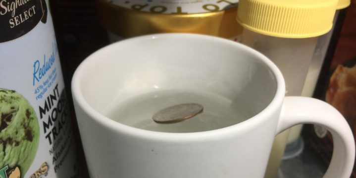 Cup with ice/freezer test