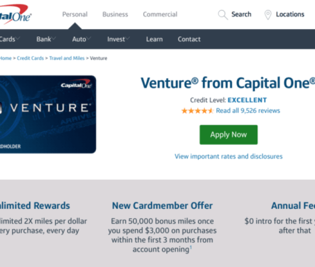 The Capital One Venture Card Allows For Flexible Mile Redemption
