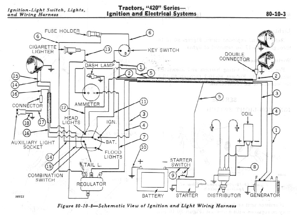 4630 ford tractor starter wiring diagram