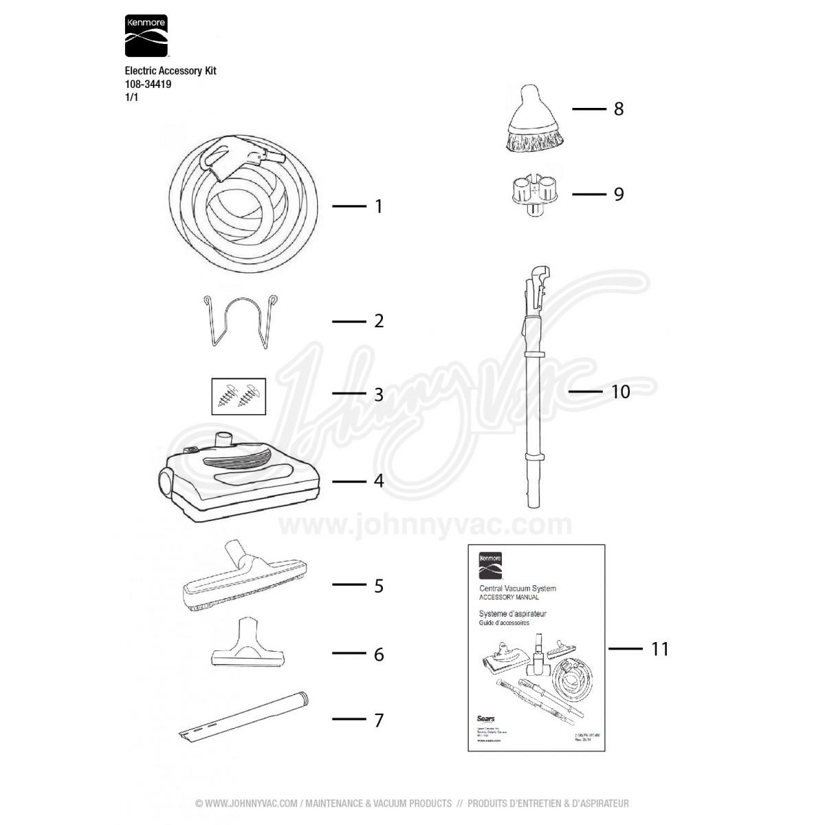 Kenmore Vacuum Electric Accessory Kit 108