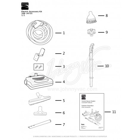 Kenmore Electric Accessory Kit 108-34735
