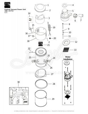 Kenmore Central Vacuum Kit 108-34753