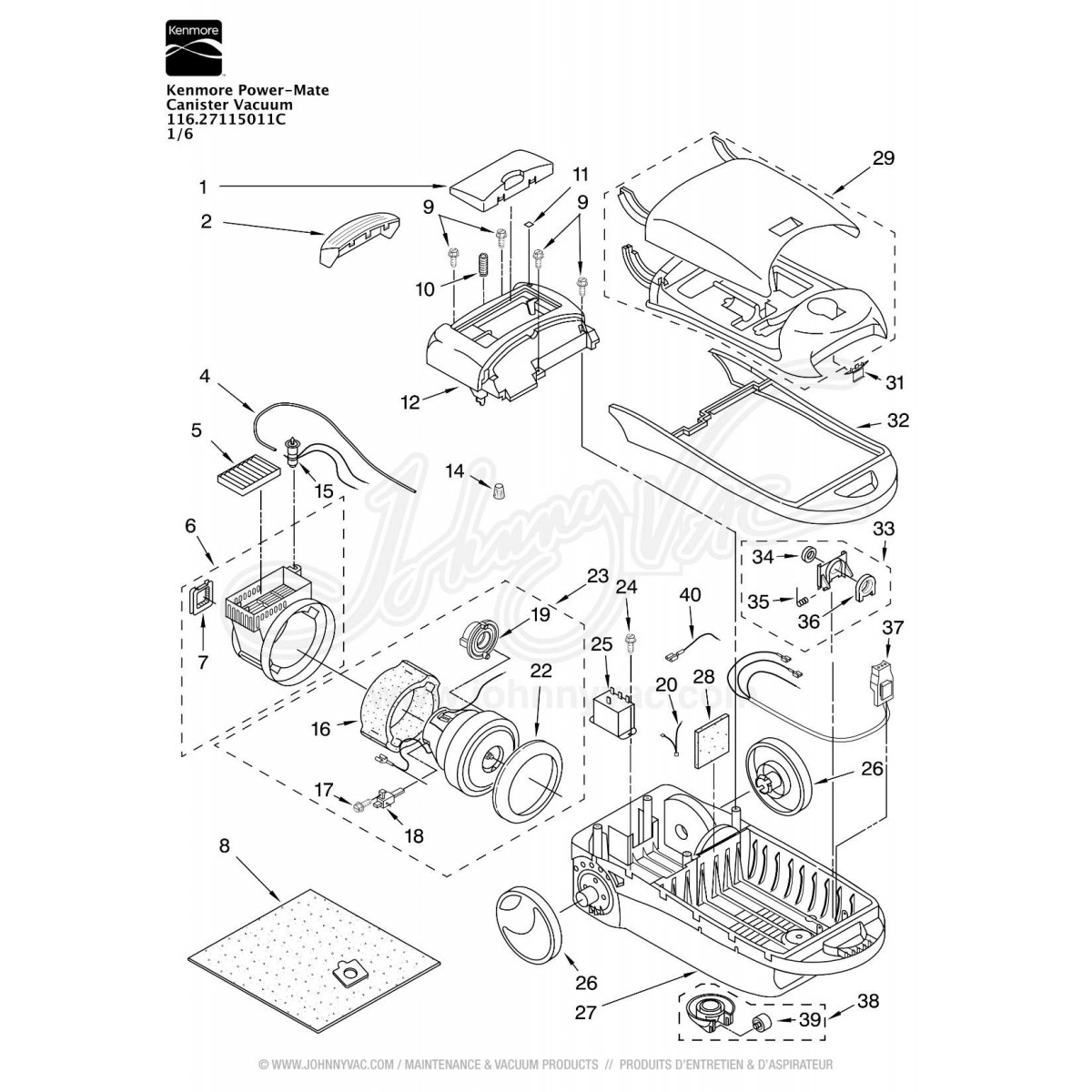 Canister Vacuum Cleaner Wiring Diagram