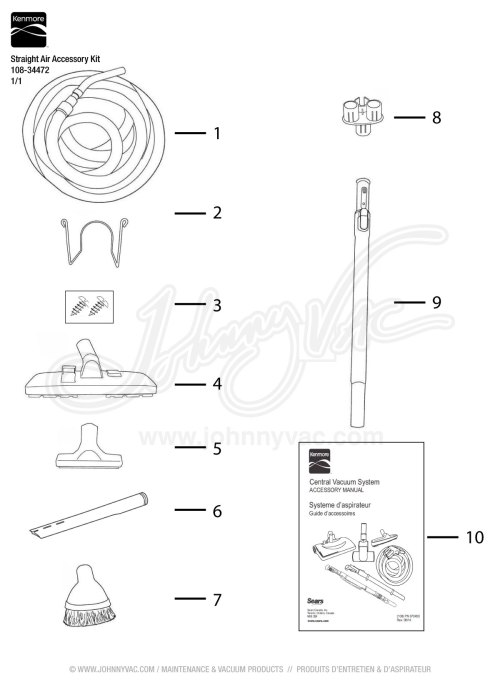 small resolution of  kenmore straight air accessory kit 108 34472 on kenmore model 110 wiring diagram electric