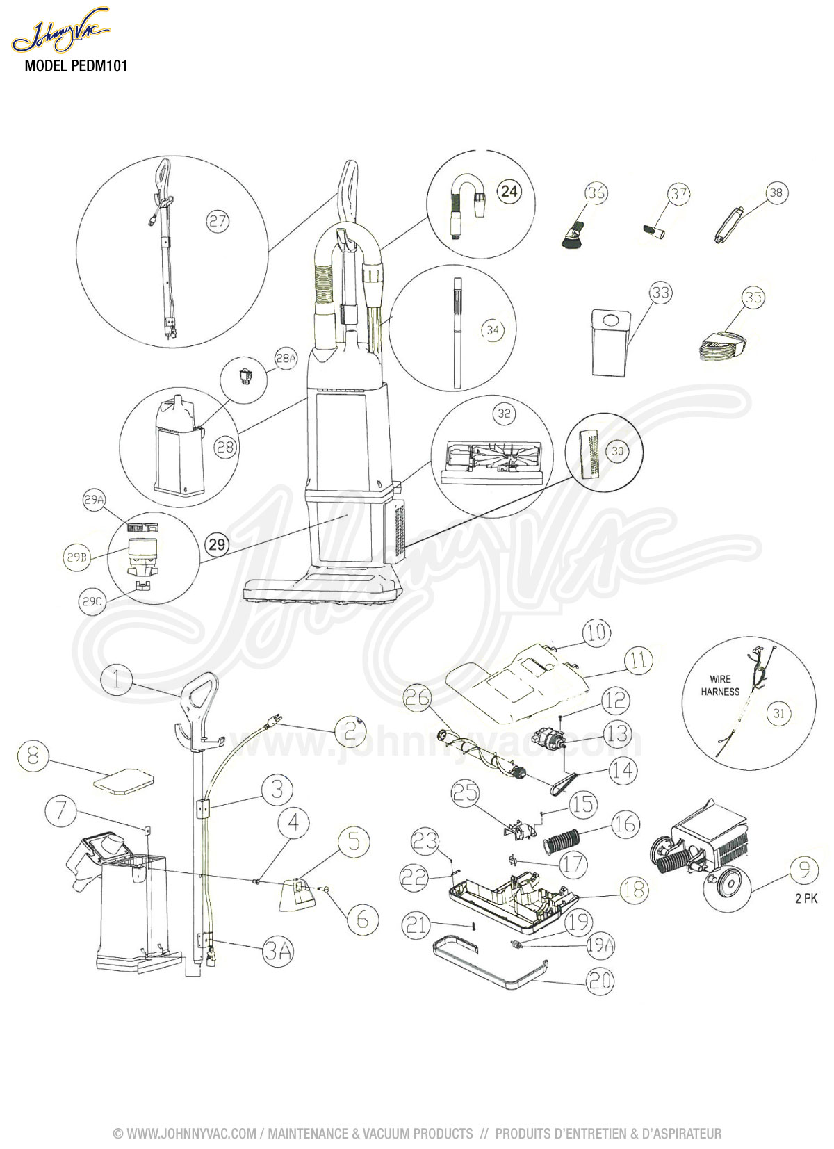 Electrolux Vacuum Cleaners Wiring Diagram Model Diagrams