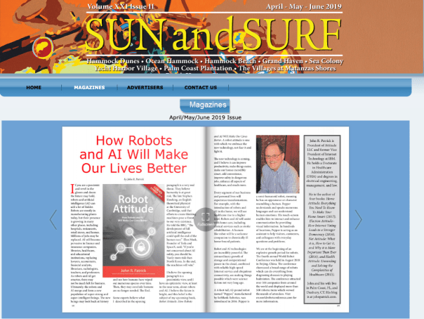 Robot Attitude in Sun and Surf Magazine