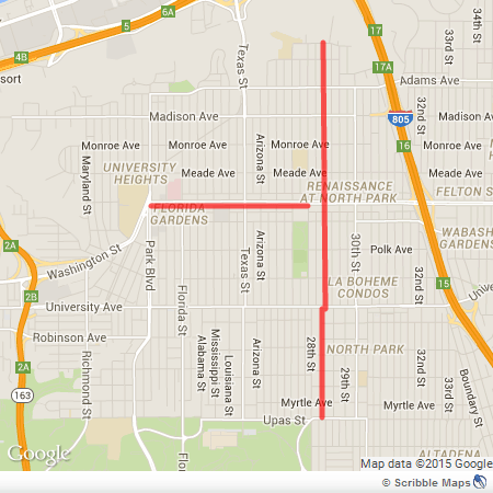 north park bike lane map