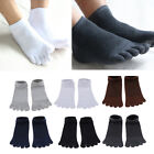 Men Cotton Socks Five Finger Toe Socks Breathable Low Cut Short Ankle Socks