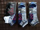 9 Pair Men's SOLE TRENDS Low Cut Cotton Blend Socks Size 10-13 Flat Toe Seam