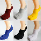 6 Pairs Mens Five Finger Toe Socks Cotton Invisible No Show Low Cut Boat Loafers