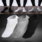 3 Pairs Mens Cotton Toe Five Finger Socks Ankle Sports Breathable Low Cut New Hi