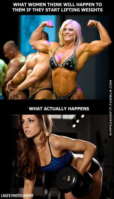 What Women Think Will Happen To Them If They Start Lifting Weights